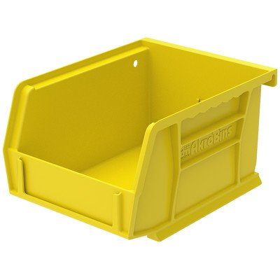 Bin [Set of 24] Color: Yellow, Size: 3'' H x 4.13'' W x 7.38'' D by Akro-Mils