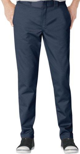 Navy Mens Ring - Dickies Men's Slim Fit Tapered Leg Ring Spun Work Pants, Dark Navy, 29 x 34