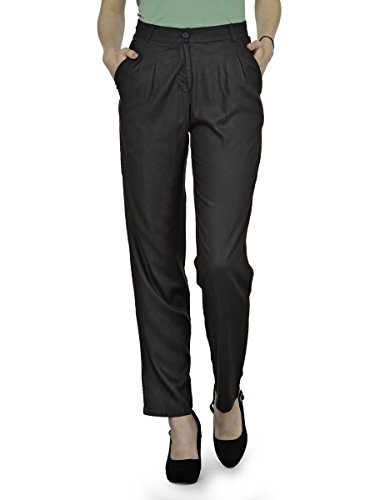 PATRORNA Womens Straight Fit Formal Trousers
