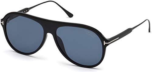 Tom Ford Nicholai TF 624 02D Matte Black Plastic Sunglasses Grey Polarized ()