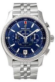 Breitling Breitling Bentley Automático Cronógrafo Azul Dial Mens Reloj P2636212/C707-SS