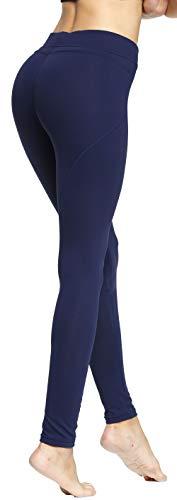 Skinny Tights - RUNNING GIRL Sexy Butt Lift Push Up Leggings Yoga Pants Shapewear Skinny Tights (1068,L, Navy Blue)