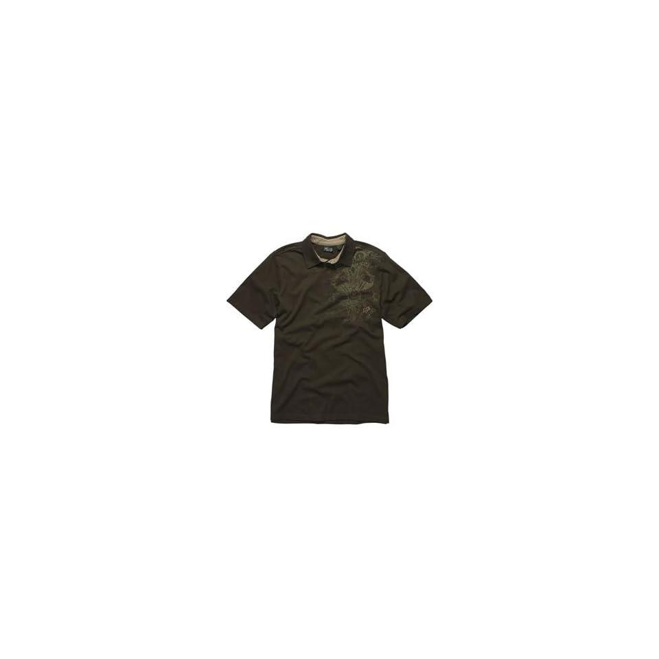 Fox Racing RSVP Polo Shirt   X Large/Dark Brown