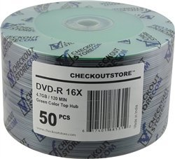 100 CheckOutStore 16X DVD-R 4.7GB Green Top [並行輸入品] B01HKQ5RRC