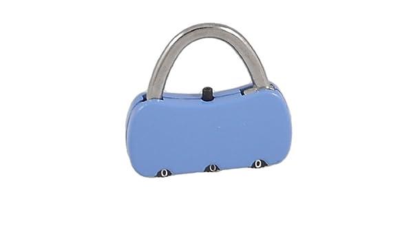 eDealMax 3.8cm x 3, 6 cm x 0, 7 cm de 3 dígitos reajustable la forma del bolso de viaje Código de bloqueo Azul - - Amazon.com