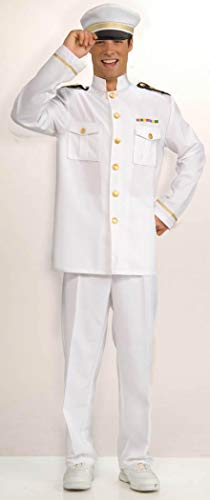 Naval Uniform (Forum Novelties Men's Cruise Captain Costume, White/Blue, Standard)
