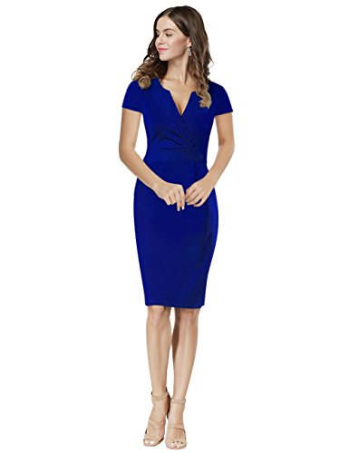 Kleider blau kurzarm