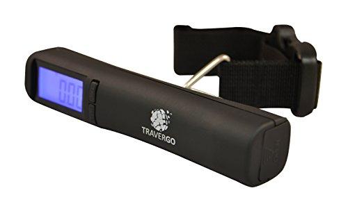 Go Green Power Digital Luggage Scale with Strap, Black, 0.26 Pound