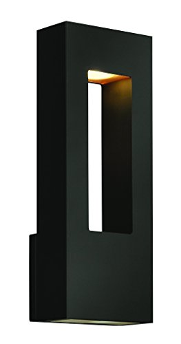 Hinkley 1648SK Contemporary Modern Two Light Wall Mount from Atlantis collection in Blackfinish,