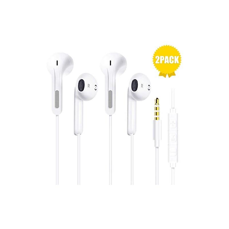 Niraky 2-Pack Premium Earbuds in-Ear Wir