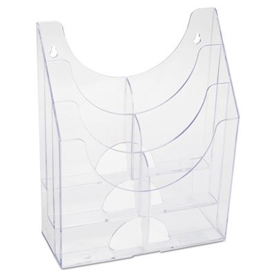 Optimizers Multipurpose Six-Pocket Organizer, 9 3/4 x 4 1/4 x 12, Clear - Optimizers Six Pocket Organizer