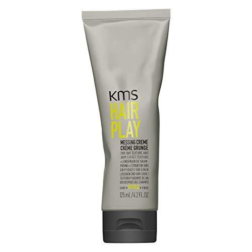 KMS HAIRPLAY Messing Crème 2nd Day Texture & Grip, Grittiness, Root Lift, Pliable Medium Hold, 4.2oz - Kms California Hair Play