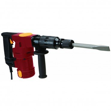 10 Amp, 120 Volt Demolition Impact Hammer with Adjustable 360° Side Handle and Ergonomic D-grip Handle; COMES WITH: bull point and spade chisels, grease, hex wrench, grease cover wrench and spare motor brushes