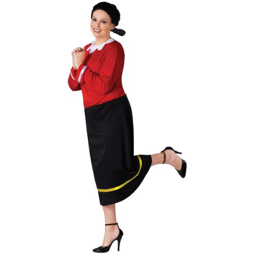 Fun World Women's Plus Size Plus Size Olive OYL Costume, Multi, Plus -