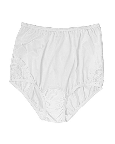 Vanity Fair Women's Perfectly Yours Lace Brief, White, 6, 3-