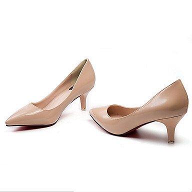Talones de las mujeres Zapatos Primavera Verano Otoño Invierno club Comfort PU charol oficina y carrera vestido casual estilete del talón OthersBlack blancos Black