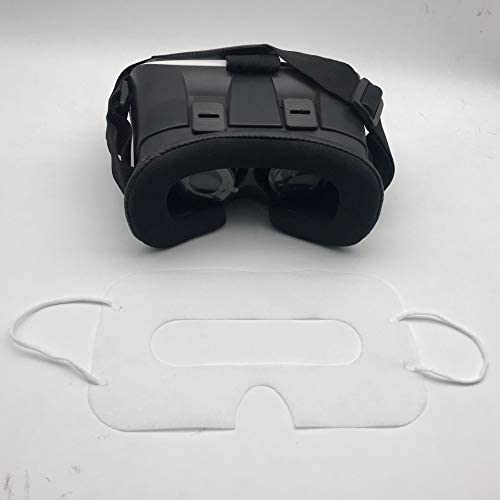 100 Pack Sanitary VR Mask Disposable Face Cover Mask Hygiene VR Pads Prevent Eye Infections for HTC Vive, PS VR, Gear VR Oculus Rift, etc. (White) 31OX2XxzjJL
