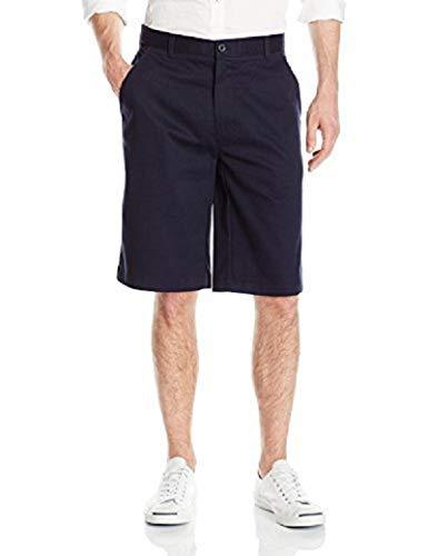 IZOD Uniform Young Men's Flat Front Short, Navy, 28