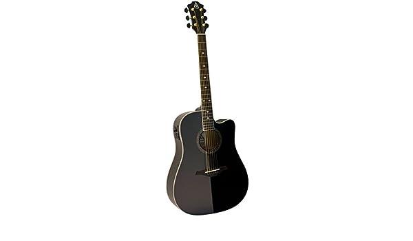 Hohner AS355CEBK - Guitarra acústica eléctrica (6 cuerdas): Amazon ...