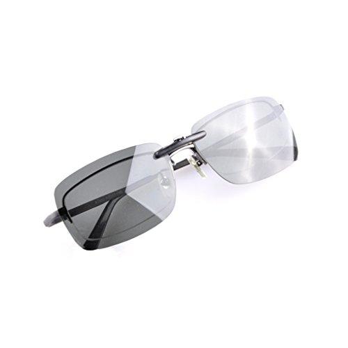 foncé lentille Verres Lunettes Vert Femmes Vision solaires Conduite Hommes Meisijia de Clip qFwfPf