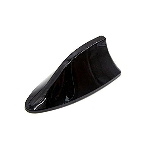 ocamo 1pcs plástico Shark aleta de tiburón Estilo coche vehículo Radio AM/FM antena de señal, Negro