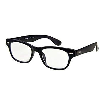 Amazon.com: I NEED YOU Designer Woody Black Reading Glasses ...