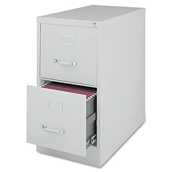 Lorell GRY carta de grado comercial tamaño Vert files-vertical archivo armario, 2DR,