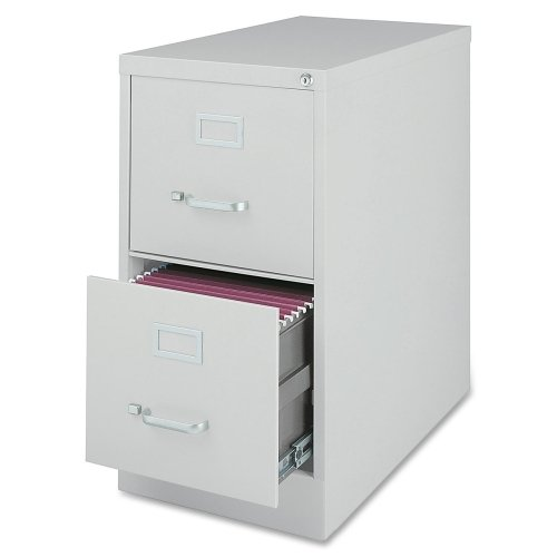 Lorell Commercial Grade Gry Letter Size Vert Files-Vertical File Cabinet, 2DR, LTR, 15