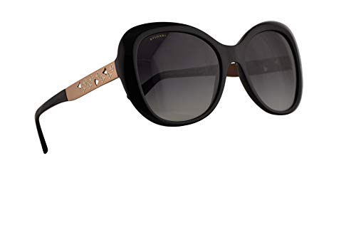 Bvlgari BV8199-B Sunglasses Black w/Grey Gradient 55mm Lens 5018G BV8199B 8199B BV 8199-B ()