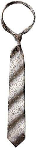 Van Heusen Men's Tie Right Pre-Tied Gradient Swirl Vine Tie