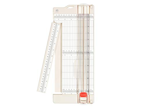 """Bira Craft Paper Trimmer and Scorer with Swing-Out arm, Craft Trimmer, Trim and Score Board, 12"""" x 4.5"""" Base, for Coupon, Craft Paper and Photo"""
