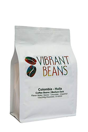 Vibrant Beans - Colombia Huila Medium Dark Coffee Beans 12oz