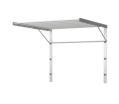 Ikea Stainless Steel Wall Mounted Laundry Drying Rack, Silver