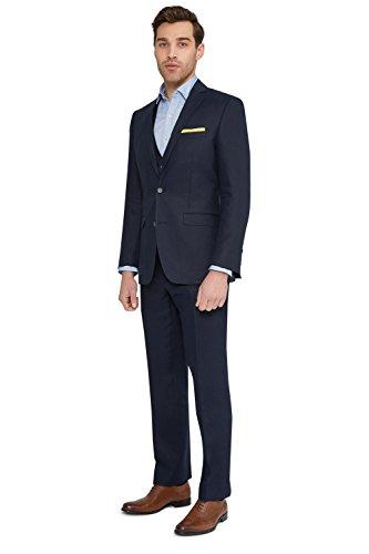 Moss 1851 Men's Tailored Fit Navy Linen Suit Jacket Blazer 44R Blue - Mens Navy Linen Suit Jacket