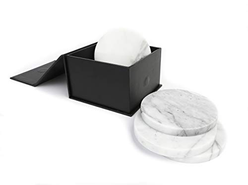 (Premium Marble Coasters - Set of 6 Coasters - 4