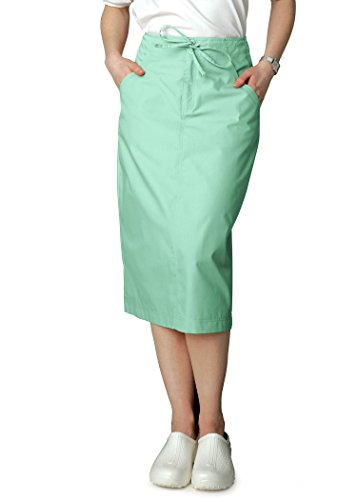 Adar Universal Mid-Calf Length Drawstring Scrub Skirt - 707 - Mint - 10