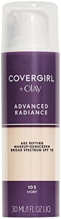COVERGIRL, Advanced Radiance Age Defying Liquid Foundation, Ivory, 1 Count