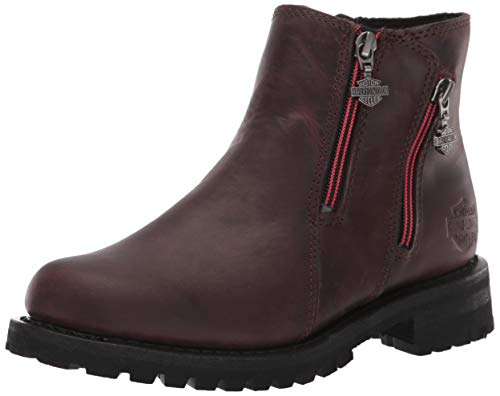 Harley-Davidson Women's Lamson Motorcycle Boot Wine 8 M US (Best Womens Motorcycle Boots)