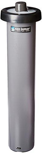 San Jamar C2010C Portion Cup EZ-Fit In-Counter Dispenser, Fits 1/2oz to 2-1/2oz Cup Size, 1-1/2