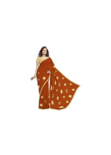 (Unique Bollywood Kota Doria Saree with Floral Design and Blouse Fabric)