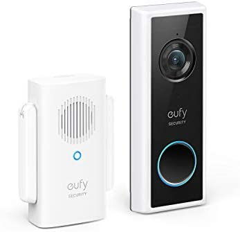 eufy Security, Wi-Fi Video Doorbell Kit, White, 1080p-Grade Resolution, 120-day Battery, No Monthly Fees, Human Detection, 2-Way Audio, Free Wireless Chime (Requires Micro-SD Card)