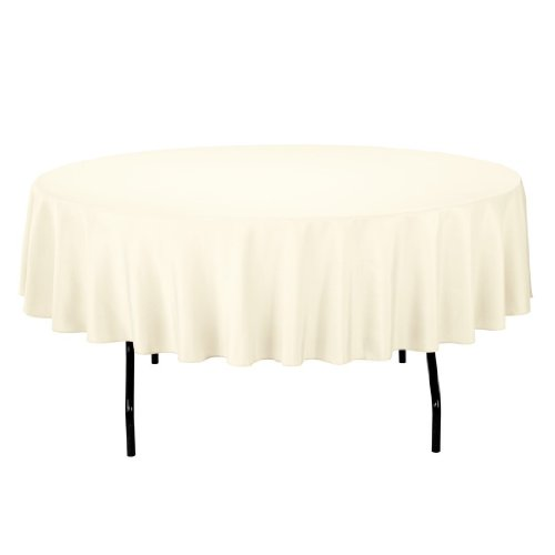 Craft and Party - 10 pcs Round Tablecloth for Home, Party, Wedding or Restaurant Use. (90