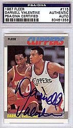 Darnell Valentine Signed 1987 Fleer Card #115 - PSA/DNA Authentication - NBA Basketball Trading Cards from Sports Collectibles Online