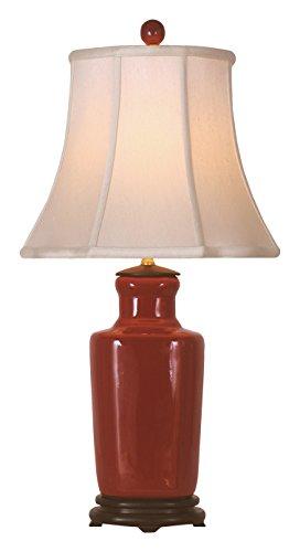 East LPRR1012A Table Lamp, Oxblood