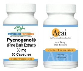 Free Acai, 500mg, 90 Capsules w/ Pycnogenol Pine Bark Extract Supplement 30 Mg, 30 Capsules - Endorsed By Dr. Ray Sahelian, M.D. - Endorsed by Dr. Ray Sahelian, M.D. - Reduces Oxidative Stress