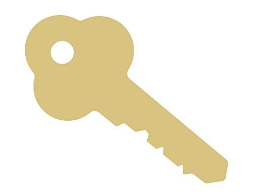 Key Cutout Unfinished Wood Door Lock Safe Vault House Master Garage MDF Shape Canvas Style 3