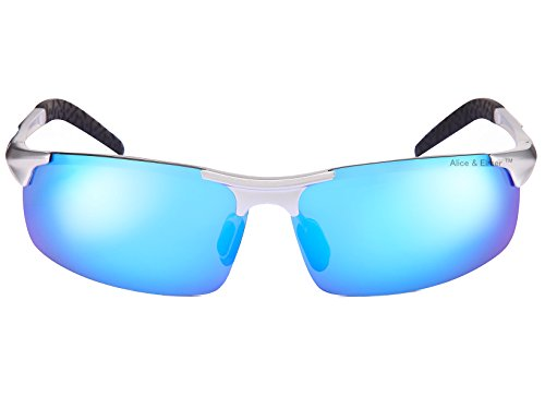 Azul deportivas marco hombre con ultraligero lente Plateado Espejado Alice Gafas marrón polarizadas de para amp; Lente marrón sol Elmer Marco xxq7UzX