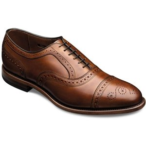 Allen Edmonds Men's Strand Cap Toe 13 E Men 1635 Walnut Calf Oxfords Shoes