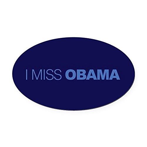 CafePress I Miss Obama Oval Car Magnet, Euro Oval Magnetic Bumper Sticker