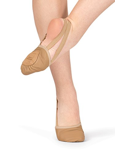 Body Wrappers Womens Leather Pleated Half Sole, Jazzy Tan, 9M for $<!--$22.50-->